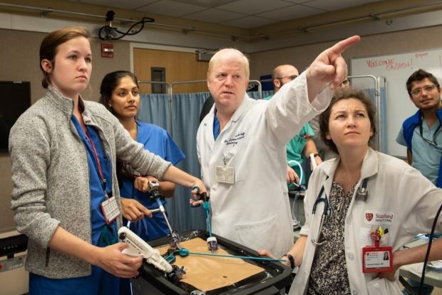 Dr. James Korndorffer teaching residents Laparoscopic Surgery Basics