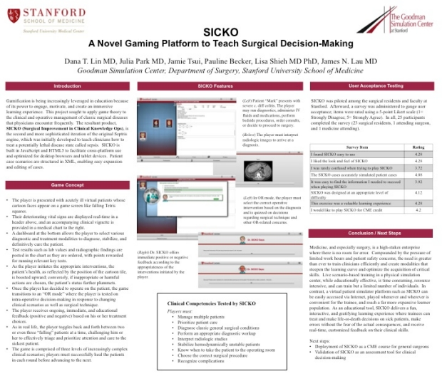 Stanford Med X 2013 SICKO Poster Presentation