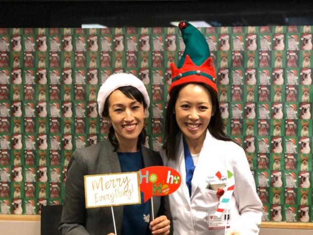 Drs. Monica Dua & Dana Lin celebrating appreciation.