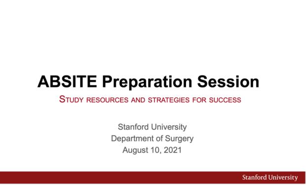 ABSITE Preparation Session intro slide